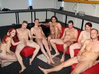 groepsex met zes mannen voor amanda